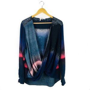 Derek Lam crossover silk blouse